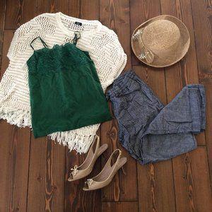 3-for-$15: M White Crochet & Fringe Sweater